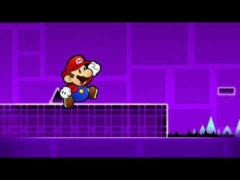 Paper Mario Plays Geometry Dash