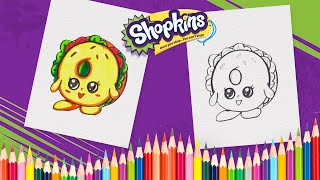 How to Draw Bagel Billy Shopkins Coloring Book Pages for Kids, Children and Preschoolers
