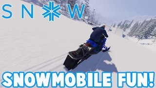 SNOW The Game - SNOWMOBILE FUN - Snow Early Access Gameplay