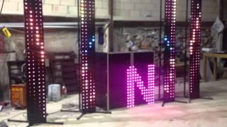 cabina + perimetrales con  1000  led pixel