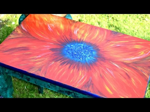 How To Hand Paint A Bright And Beautiful Table - DIY Home Tutorial - Guidecentral