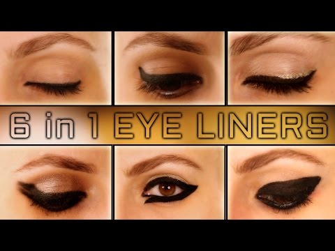 Six Different Eye Liner Looks | Funky Eye Liners/easy eye liners