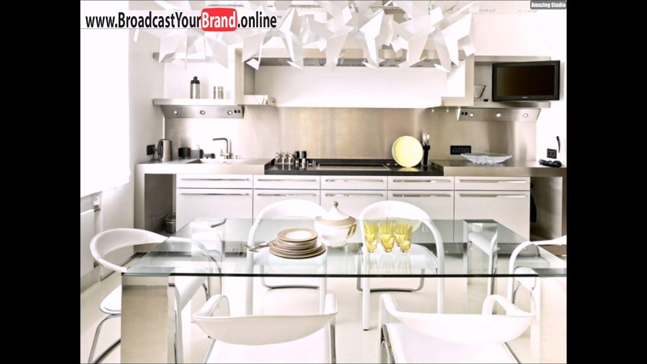 Wohnideen Weisse Moderne Kuche Stahl Kuchenruckwand Spritzschutz