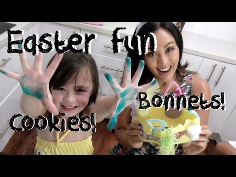 Easy Easter Cooking And Craft Activities For Kids 2017. Cookies And Bonnets!