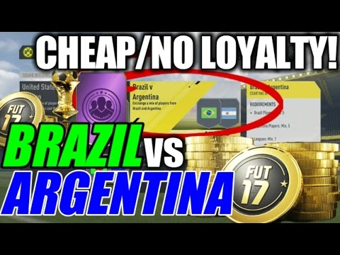 BRAZIL v ARGENTINA Cheap Solution! | Squad Building Challenge Guide | FIFA 17
