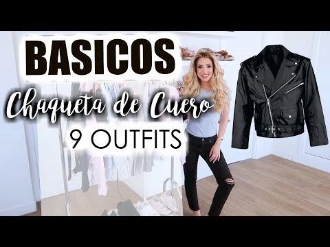 BASICOS/ CAZADORA DE CUERO negro 9 OUTFITS
