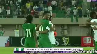 Alex Iwobi dances to olamide WO, as Mikel nearly Injure himself to celebrate Nigeria vs Zambia 2017