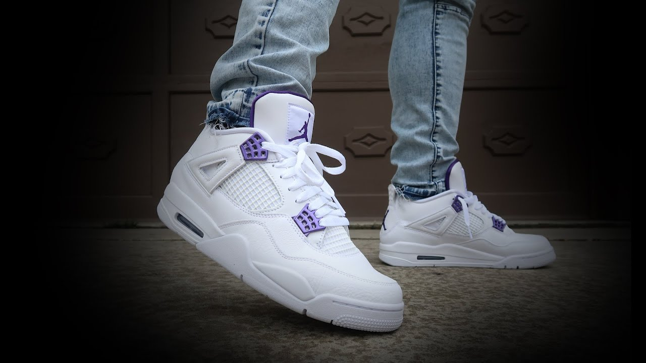 air jordan 4 metallic purple