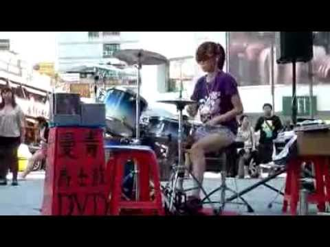 Girl taiwan drum cover Song Lady Gaga-Just Dance