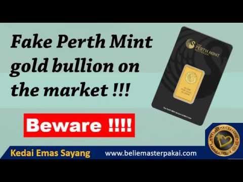 Fake Gold Bar Perth Mint Australia