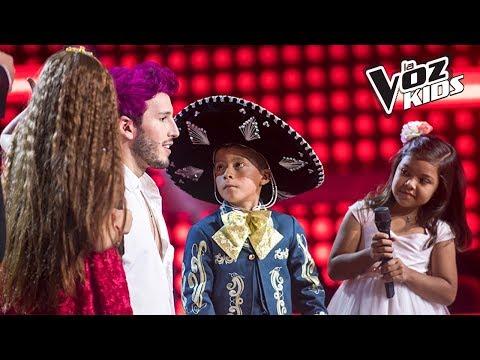 David, Majo Valiente y Alana cantan Mi Salón está de Fiesta - Batallas | La Voz Kids Colombia 2018