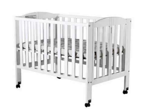 Delicieux New Dream On Me 2 In 1 Portable Folding Stationary Side Crib, White Deal