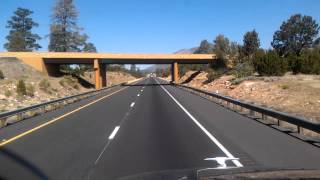 43 Miles to Flagstaff, Arizona on Interstate 40 Westbound