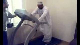Arab Man on Treadmill.Very funny.