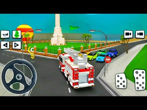 Driving Academy Joyride #2 - Firetruck Drive Through City - Android iOS Gameplay