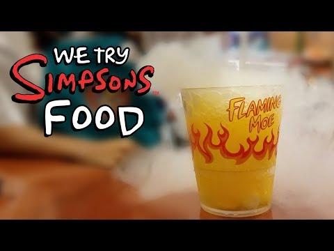 WE TRY SIMPSON'S FOOD