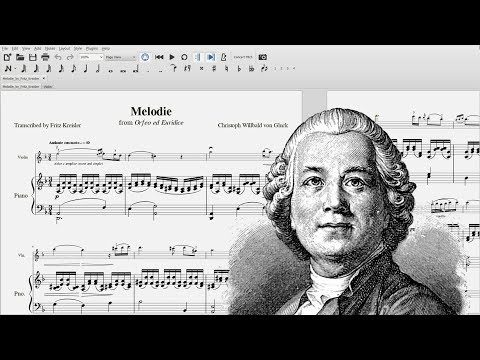 Melodie - Christoph Willibald Gluck