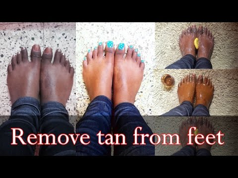 Get rid of feet tan - clean up, toning, scrub and mask | Pedicure | Beauty Made Easy