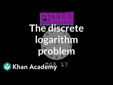The discrete logarithm problem | Journey into cryptography | Computer Science | Khan Academy