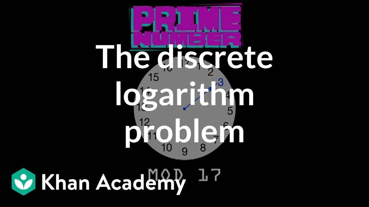 The discrete logarithm problem (video) | Khan Academy