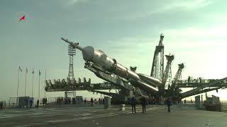 Вывоз РКН «Союз-ФГ» с ТПК «Союз МС-08»