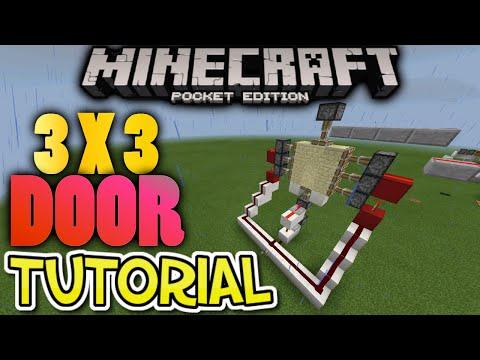 how to make a 3x3 piston door in minecraft pe
