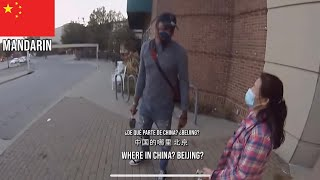 Black Man Speaks 10 Diffęrent Languages With Different Foreigners!