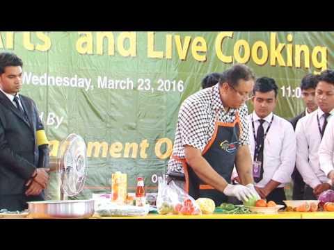 Seminar on Culinary arts and live cooking at IUBAT University part 2