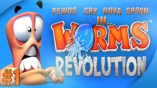 Nova / Sp00n / Cry / Pewds - Worms Revolution Part (1) Match (1)
