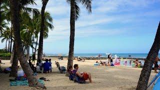 Hawaii Day 2 - Part 3 ~ Walking along Waikiki Beach ワイキキビーチ沿いを歩く ~