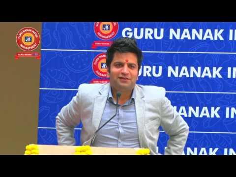 Kunal Kapoor in Guru Nanak IHM seminar