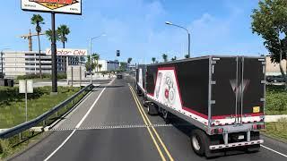 아메리칸 트럭 시뮬레이터 옥스나드  로스엔젤레스 타이어…