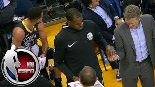 Steve Kerr lets Andre Iguodala run the Warriors' huddle during timeout vs. Suns | ESPN
