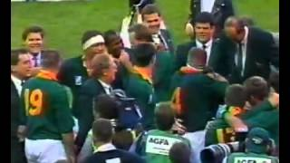 1995 Rugby World Cup Final post game and trophy presentation