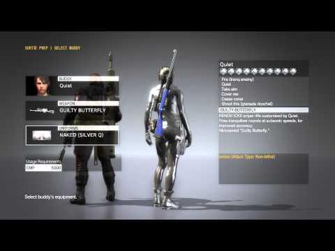 Metal Gear Solid 5 Phantom Pain , Quiet All Bonding Costumes (Quiet Max Bond Level)