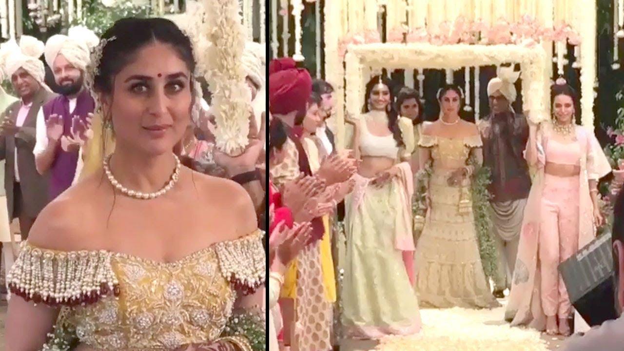 Veere Di Wedding Outfits.Veere Di Wedding Climax Scene Leaked Kareena Kapoor Sonam Kapoor Swara Bhaskar