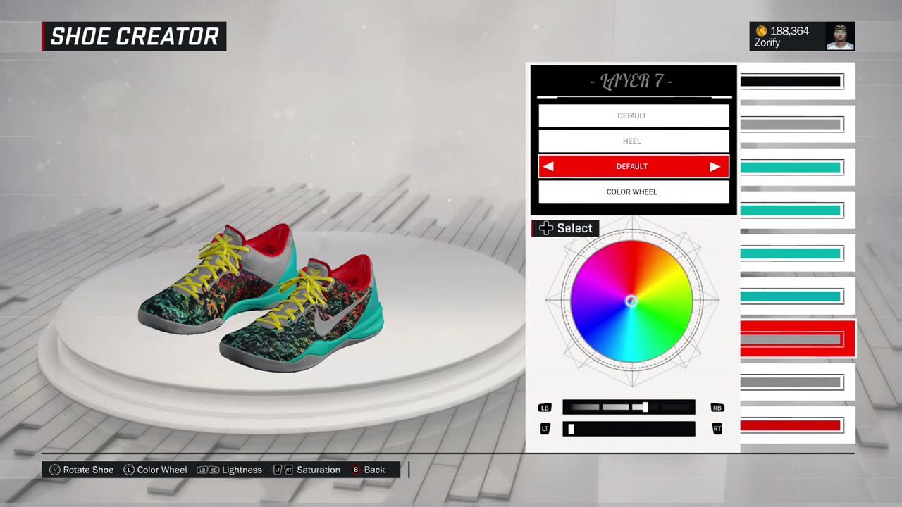 NBA 2K17 Shoe Creator - Nike Kobe 8