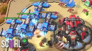 LATE-GAME Battlecruisers - Starcraft 2: Innovation vs. Cure