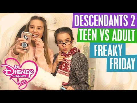 DISNEY CHANNEL VLOG | TEEN VS ADULT | DESCENDANTS 2 NEWS | FREAKY FRIDAY