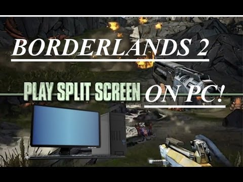 how to set up borderlands 2 split screen on pc