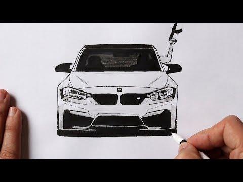 Как нарисовать машину BMW M5 F90 | BMW рисунок