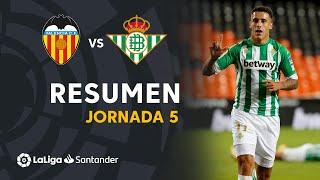 Resumen de Valencia CF vs Real Betis (0-2)