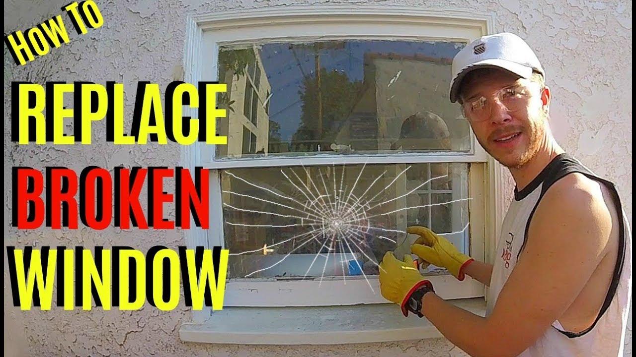 How To Replace Broken Window Pane Glass -Jonny DIY