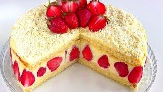 видео Клубничный торт (рецепт с фото)