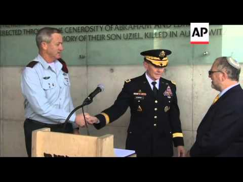 Top General Of The US Army Visits Yad Vashem, Meets Israeli President Peres