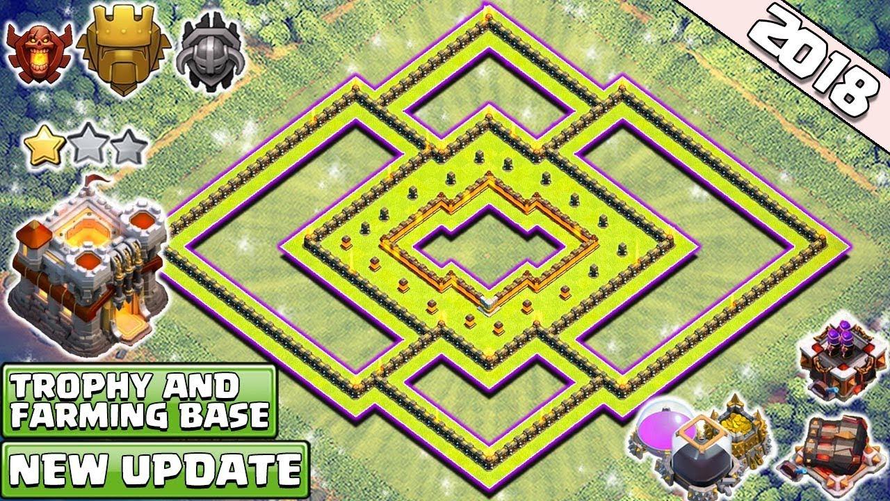 Town Hall  Trophy Farming Base  Best Th Defense Base Anti  Star Clash Of Clans