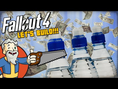 """HOW TO GET RICH WITH PURIFIED WATER!!!"" MODDED Fallout 4 LET'S BUILD - 1440p HD PC Gameplay"