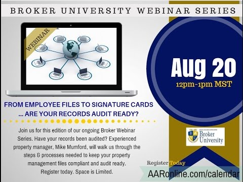 Broker University: Trust Accounting & Compliance 8.20.2015