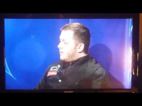Mark Allen BBC interview after beating John Higgins - Masters 2015