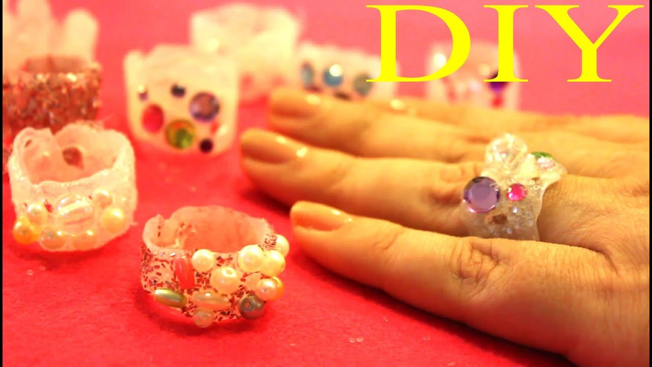 Anillos De Goma De Silicon Hot Glue Rings Youtube